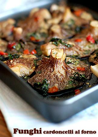 Funghi cardoncelli al forno fiordizucca cibo ricette for Cucinare funghi